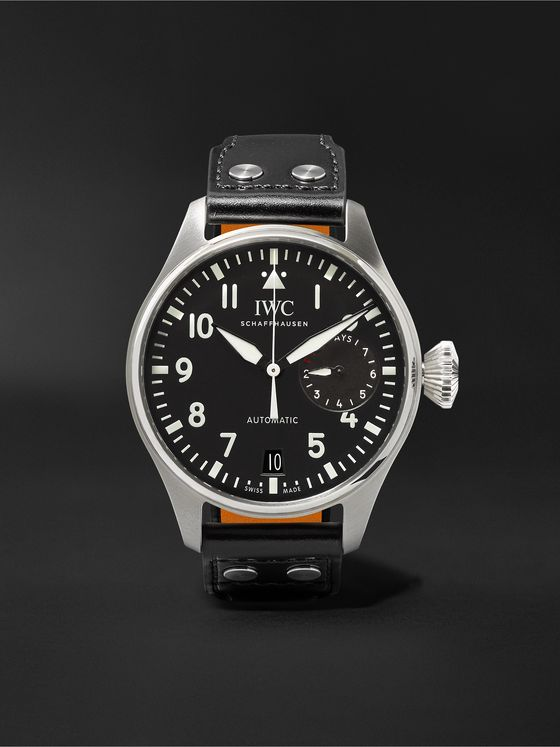 IWC SCHAFFHAUSEN Big Pilot's Automatic 46.2mm Stainless Steel and Leather Watch, Ref. No. IW500912