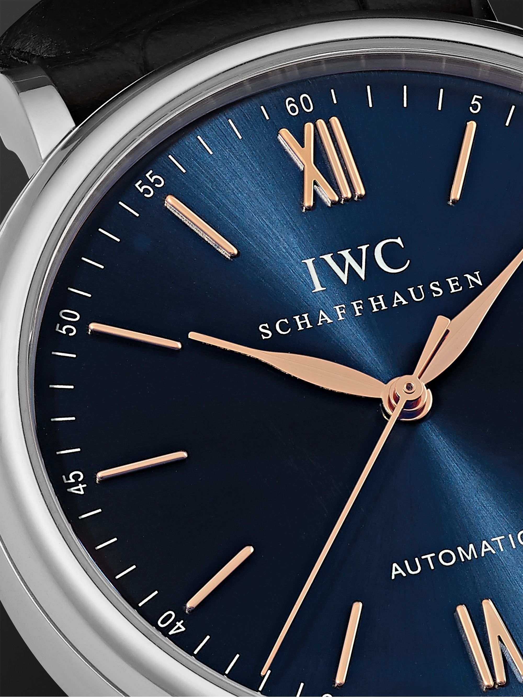 IWC SCHAFFHAUSEN Portofino Automatic 40mm Stainless Steel and Alligator Watch, Ref. No. IW356523