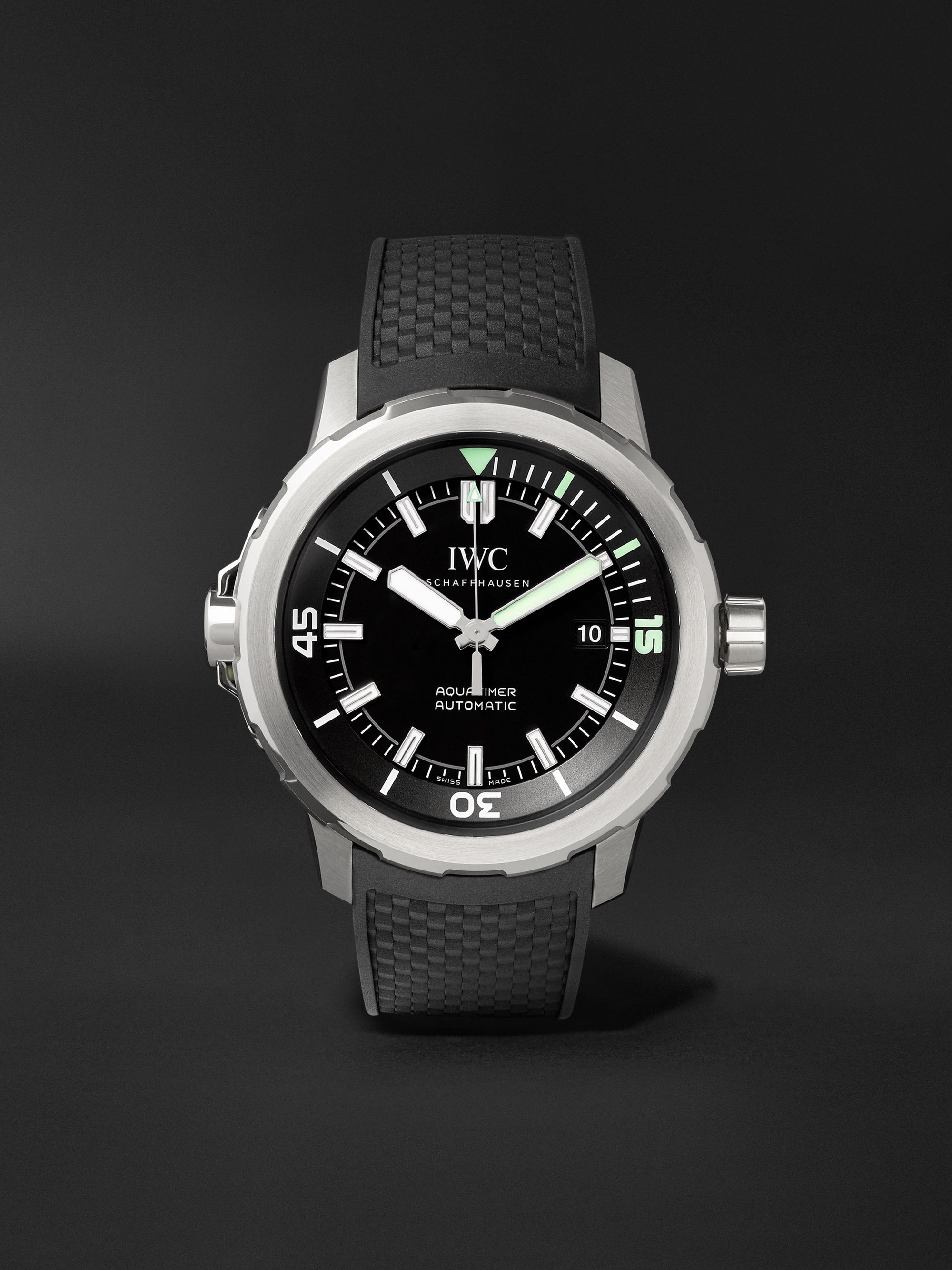 IWC SCHAFFHAUSEN Aquatimer Automatic 42mm Stainless Steel and Rubber Watch, Ref. No. IW329001