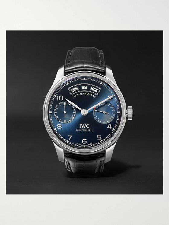 IWC SCHAFFHAUSEN Portugieser Annual Calendar Automatic 44.2mm Stainless Steel and Alligator Watch, Ref. No. IW503502