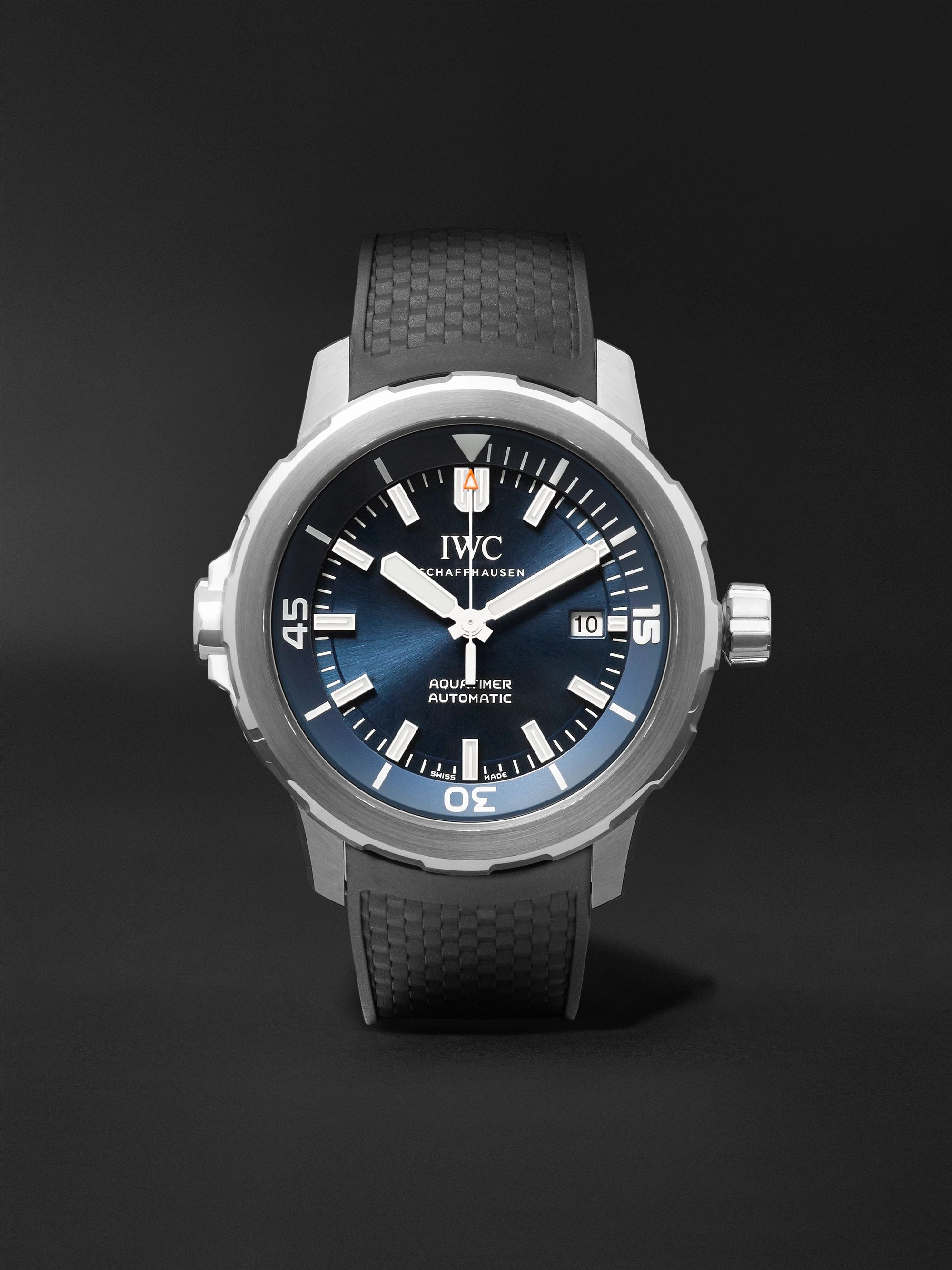 IWC SCHAFFHAUSEN Aquatimer Expedition Jacques-Yves Cousteau 42mm Stainless Steel and Rubber Watch, Ref. No. IW329005