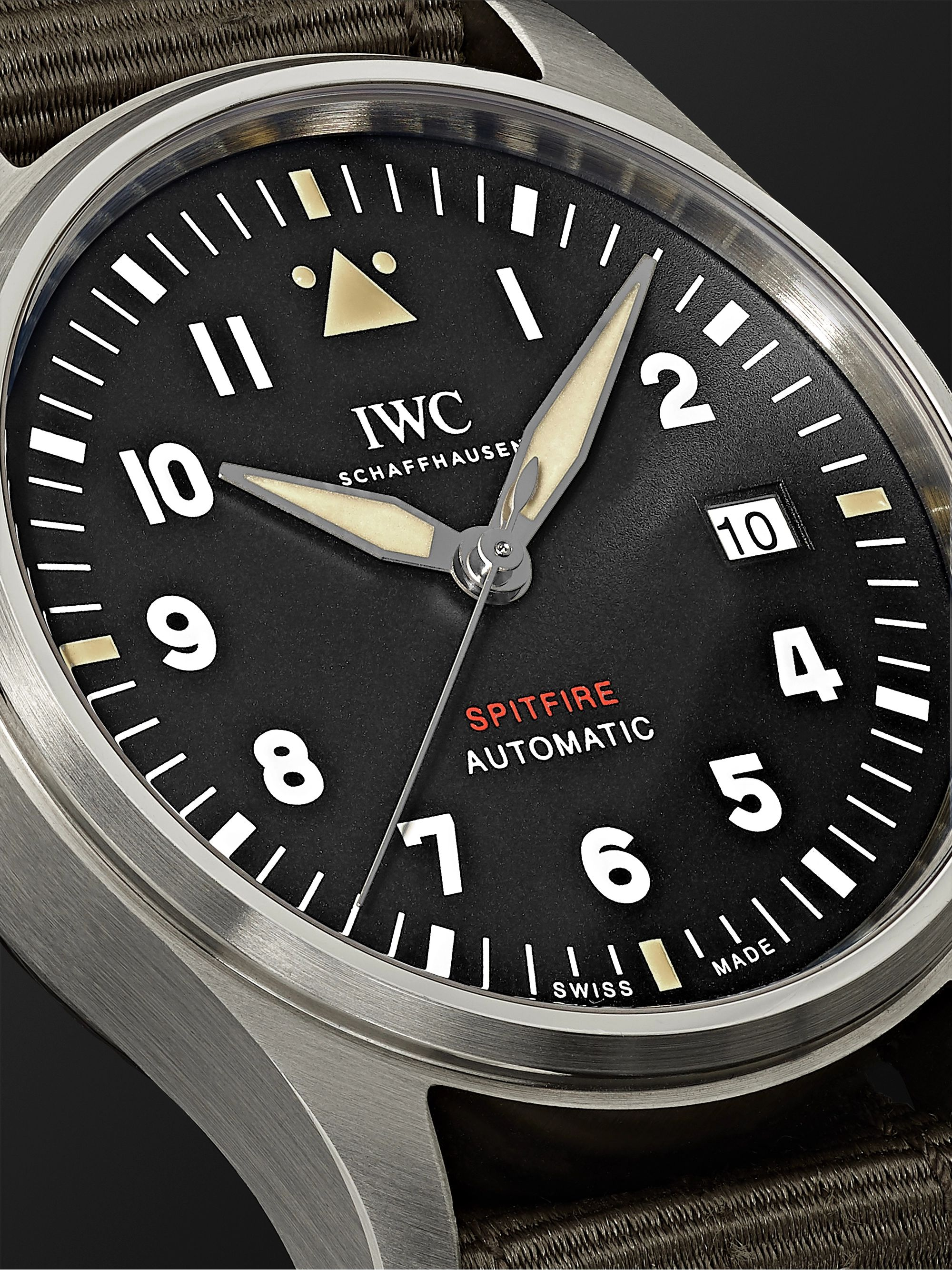 IWC SCHAFFHAUSEN Pilot's Spitfire Automatic 39mm Stainless Steel and Webbing Watch, Ref. No. IW326801