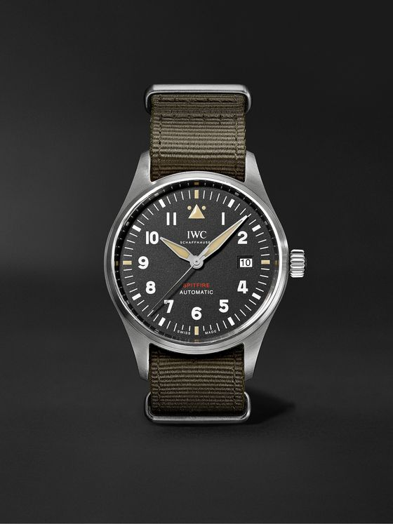 IWC SCHAFFHAUSEN Pilot's Spitfire Automatic 39mm Stainless Steel and Textile Watch, Ref. No. IW326801