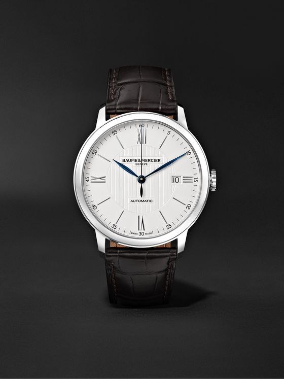 BAUME & MERCIER Classima Automatic 40mm Stainless Steel and Alligator Watch, Ref. No. 10214