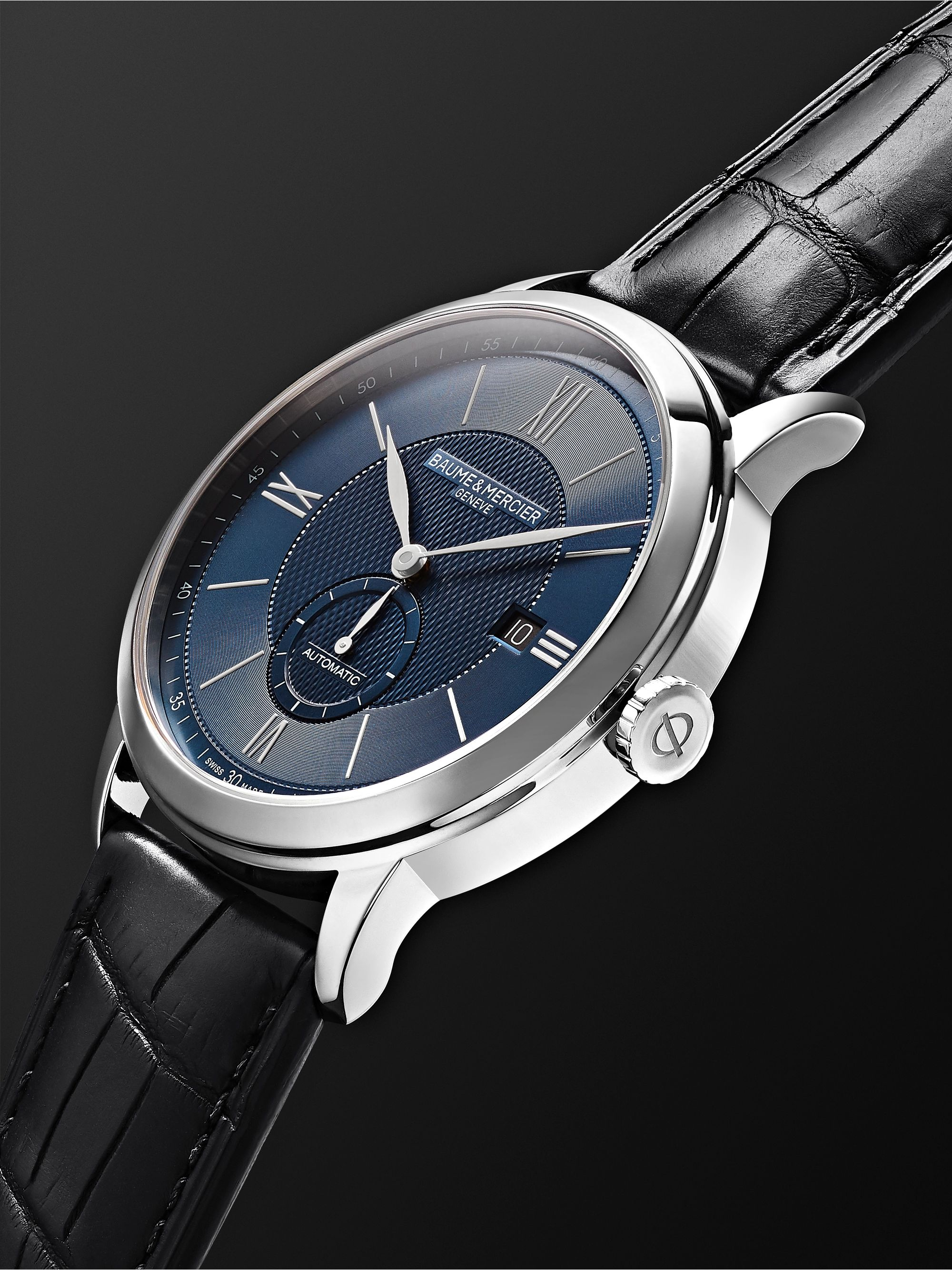 Baume & Mercier Classima Automatic 42mm Stainless Steel and Alligator Watch, Ref. No. M0A10480