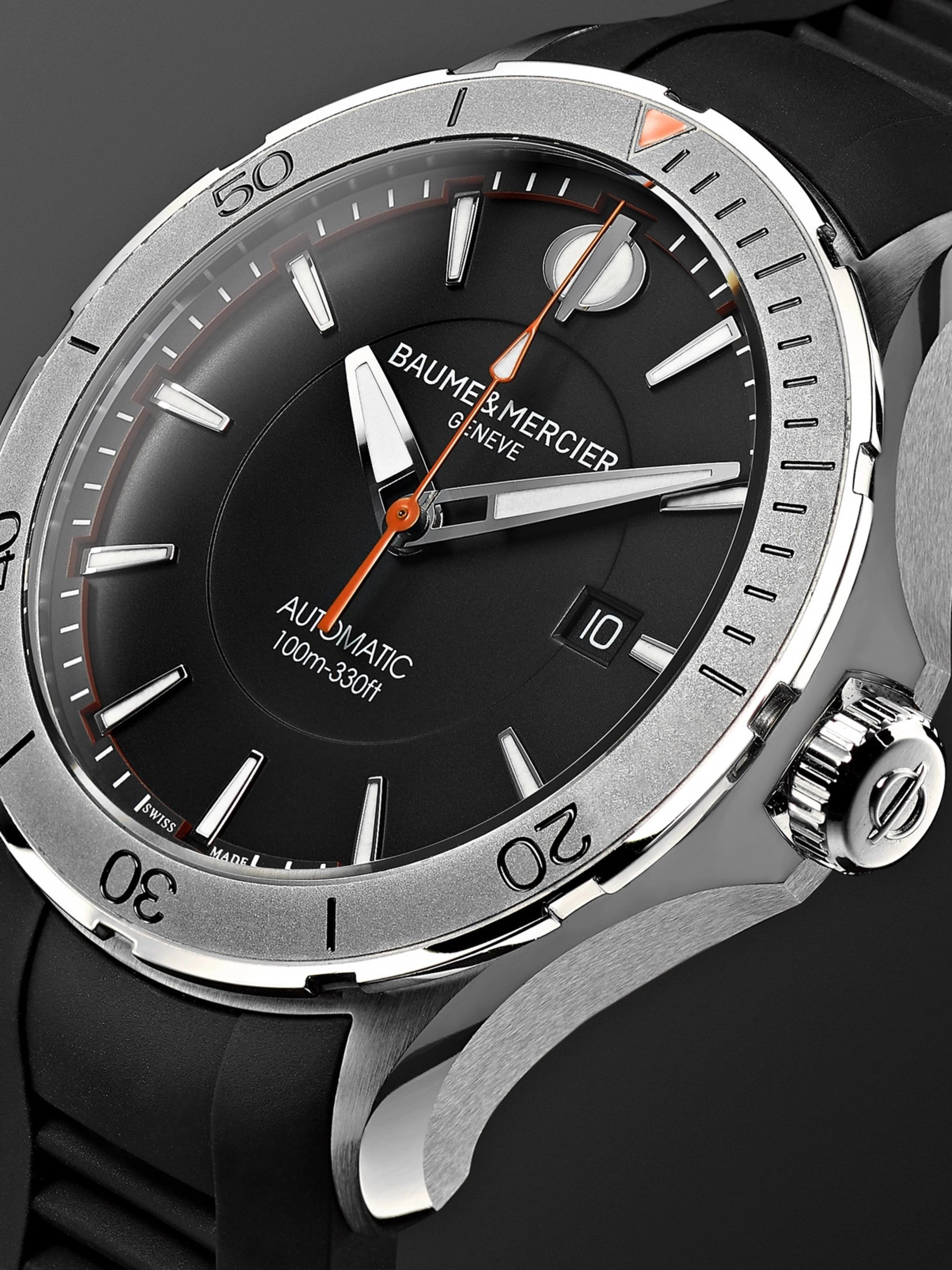 Baume & Mercier Clifton Club Automatic 42mm Stainless Steel and Rubber Watch, Ref. No. 10406