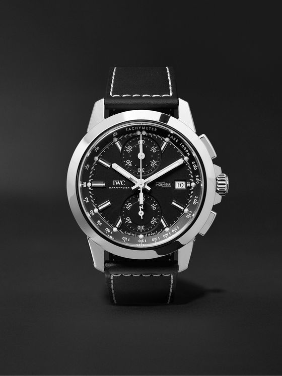 IWC SCHAFFHAUSEN Ingenieur Automatic Chronograph Sport 44mm Titanium and Leather Watch, Ref. No. IW380901