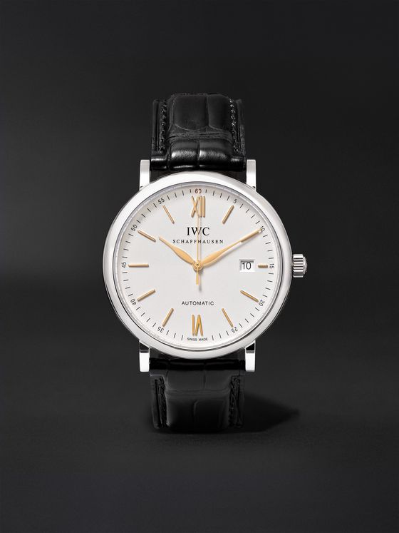 IWC SCHAFFHAUSEN Portofino Automatic 40mm Stainless Steel and Alligator Watch, Ref. No. IW356517
