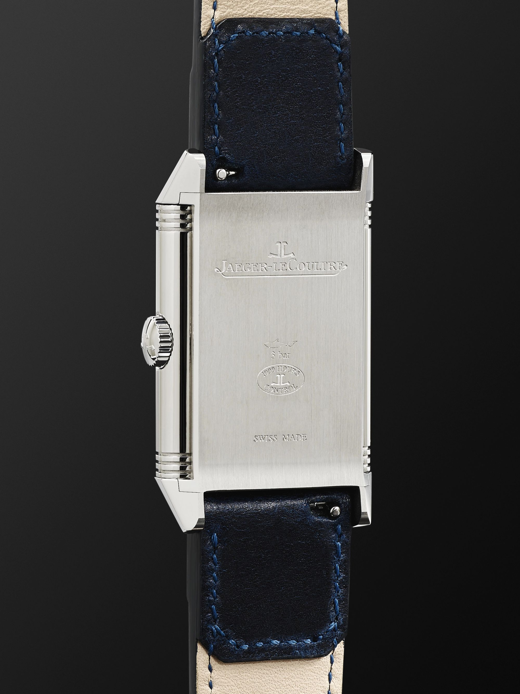 Jaeger-LeCoultre Reverso Tribute Hand-Wound 27mm Stainless Steel and Leather Watch, Ref. No. Q3978480