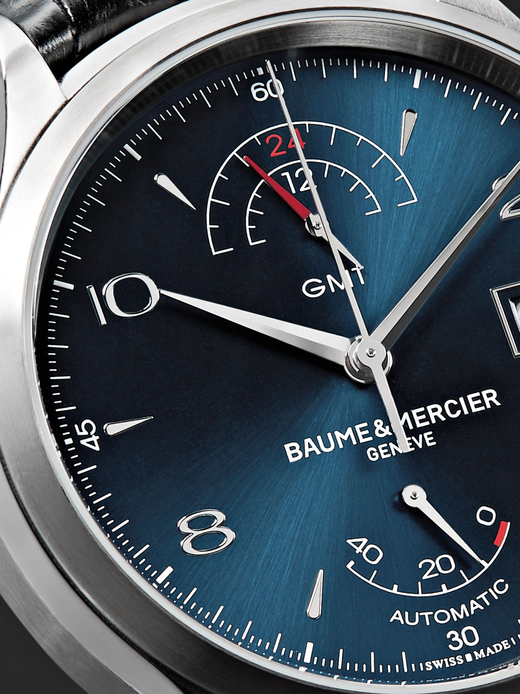 Baume & Mercier Clifton Automatic 43mm Stainless Steel and Alligator Watch, Ref. No. 10316
