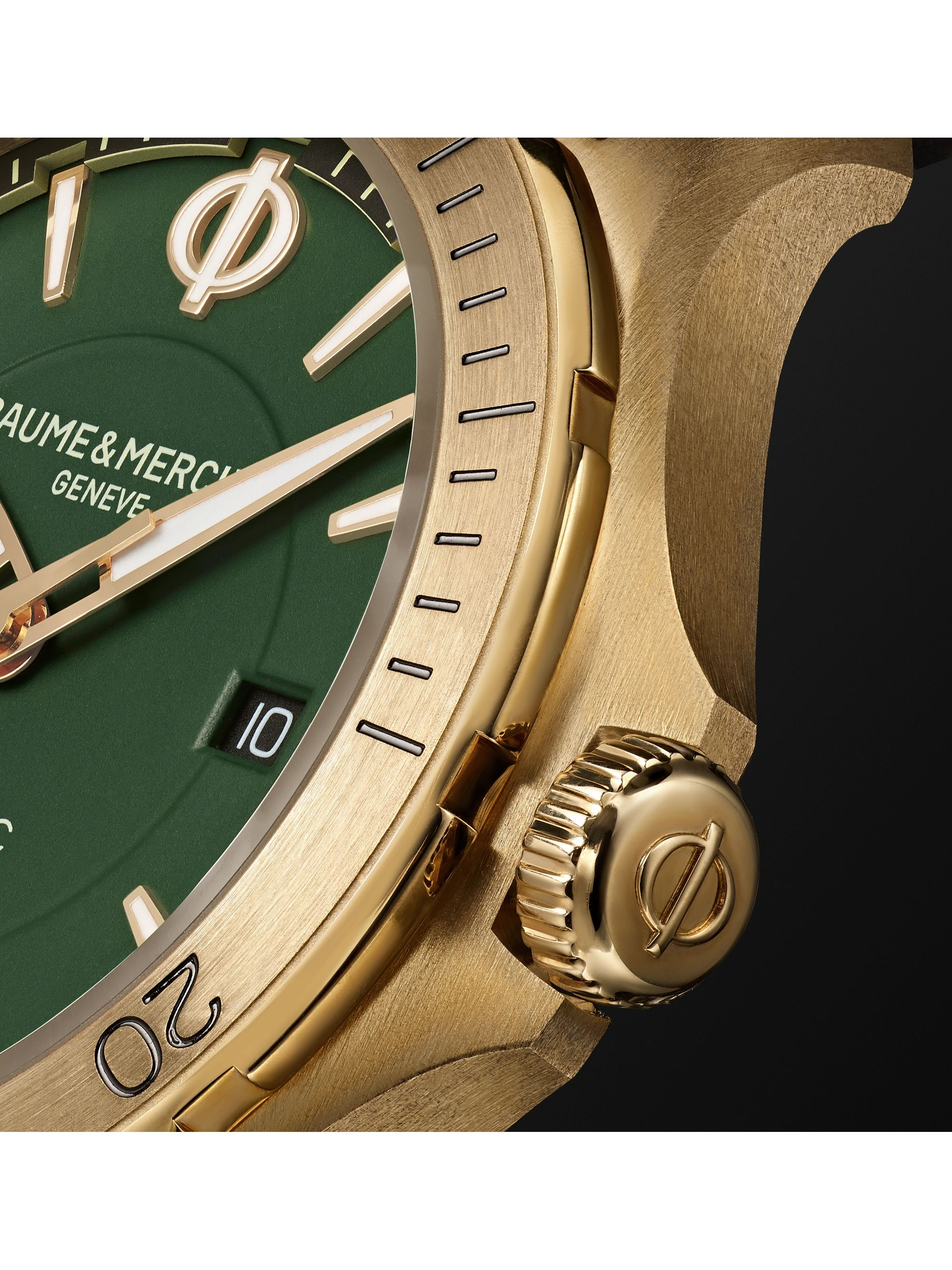 Baume & Mercier Clifton Club Automatic 42mm Bronze and Suede Watch, Ref. No. M0A10503