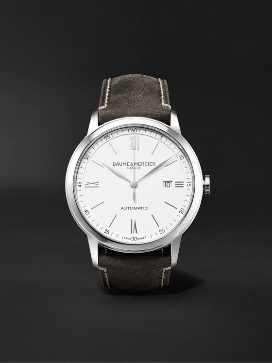 Baume & Mercier Classima Automatic 42mm Stainless Steel and Leather Watch, Ref. No. 10409