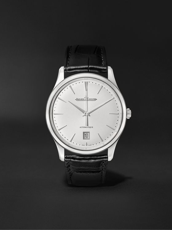 Jaeger-LeCoultre Master Ultra Thin Date Automatic 39mm Stainless Steel and Alligator Watch, Ref. No. 1238420