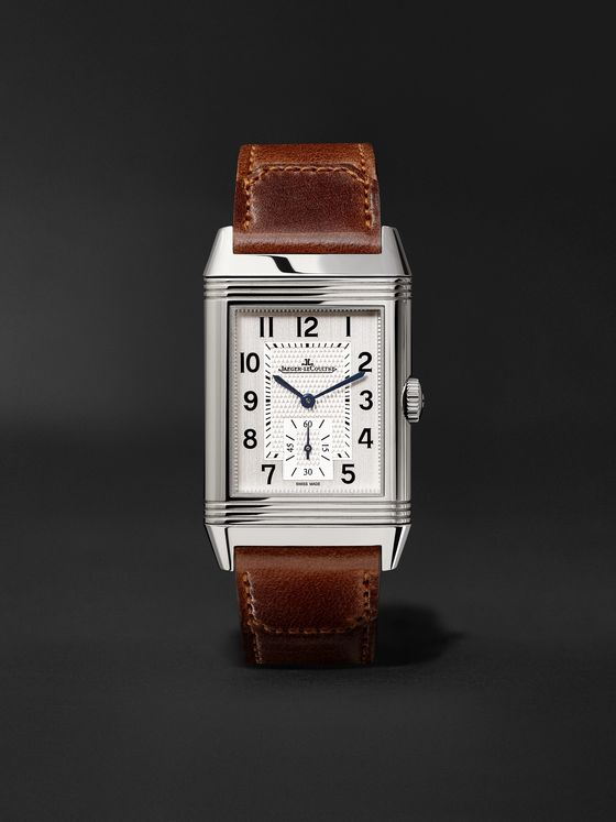 JAEGER-LECOULTRE Reverso Classic Large Duoface Hand-Wound 28mm Stainless Steel and Leather Watch, Ref. No. Q3848422