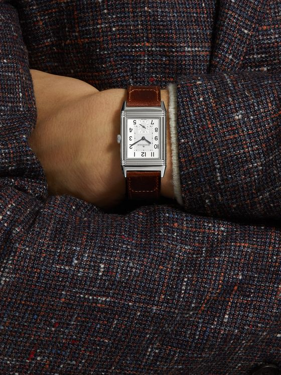 JAEGER-LECOULTRE Reverso Classic Medium Hand-Wound 25.5mm Stainless Steel and Leather Watch, Ref. No. Q2438522