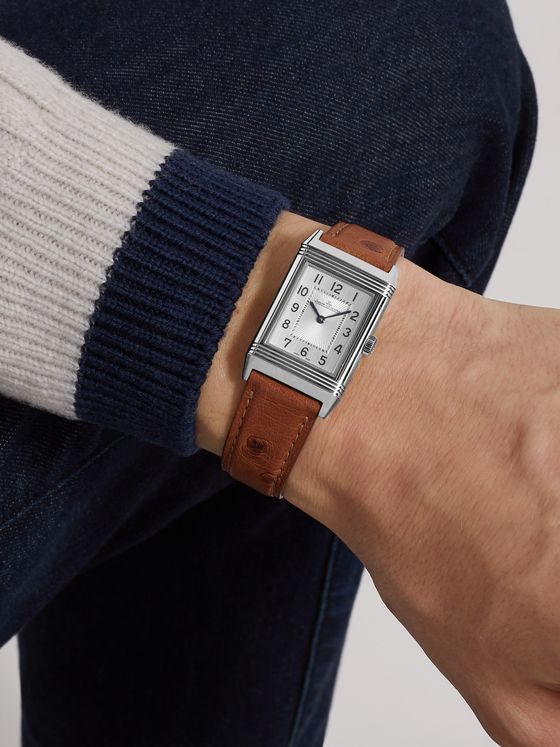 JAEGER-LECOULTRE Reverso Classic Medium Thin Hand-Wound 24.4mm Stainless Steel and Ostrich Watch, Ref. No. Q2548441