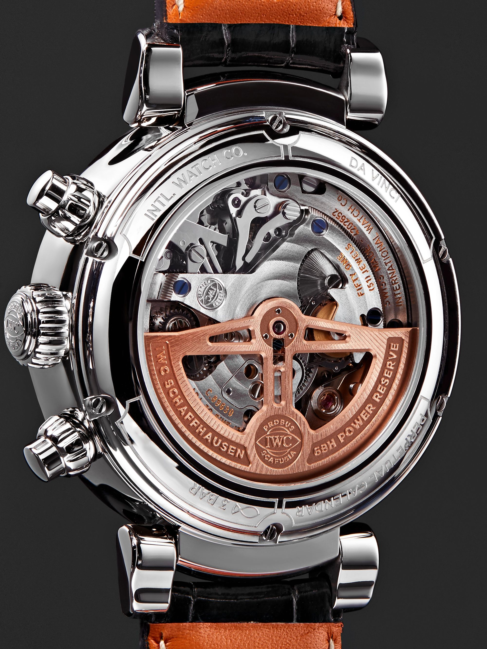 IWC SCHAFFHAUSEN Da Vinci Perpetual Calendar Chronograph 43mm Stainless Steel and Alligator Watch, Ref. No. IW392103