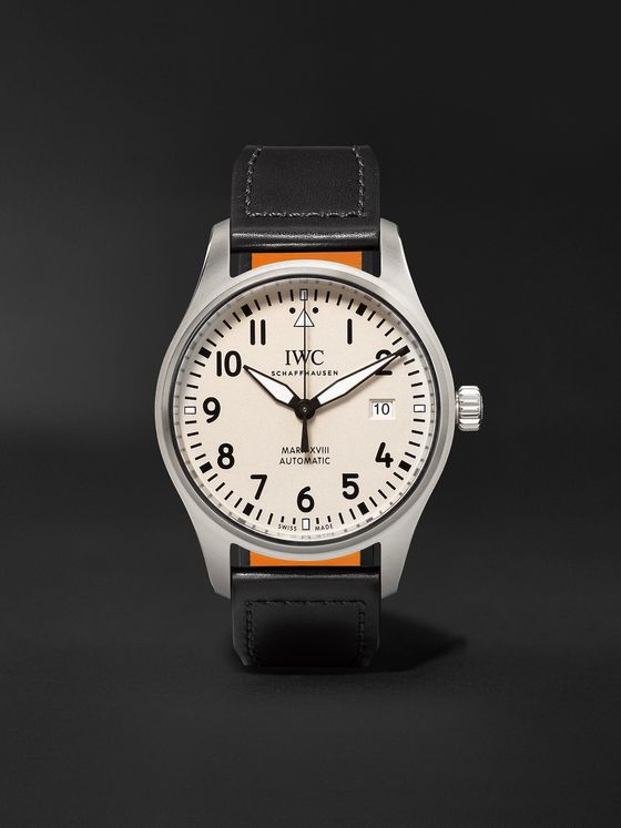 IWC SCHAFFHAUSEN Pilot's Mark XVIII Automatic 40mm Stainless Steel and Leather Watch, Ref. No. IW327002