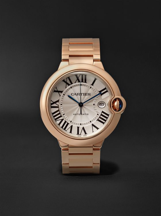 CARTIER Ballon Bleu Automatic 42mm 18-Karat Pink Gold Watch, Ref. No. CRWGBB0016