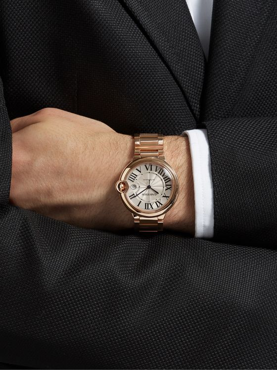 CARTIER Ballon Bleu de Cartier Automatic 42mm 18-Karat Pink Gold Watch, Ref. No. CRWGBB0016