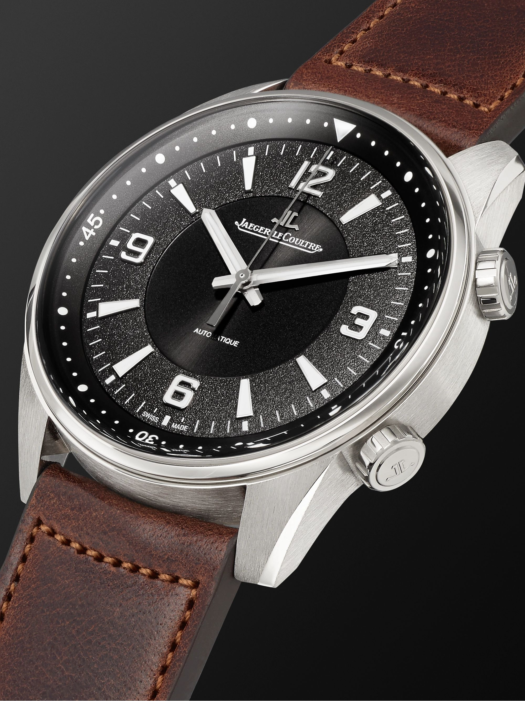 Jaeger-LeCoultre Polaris Automatic Stainless Steel and Leather Watch, Ref. No. Q9008471