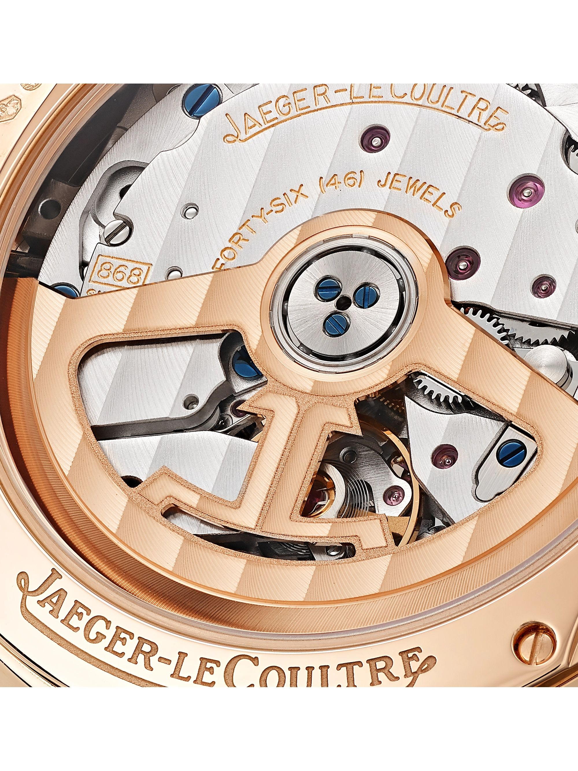 Jaeger-LeCoultre Master Ultra Thin Perpetual Automatic 39mm 18-Karat Rose Gold and Alligator Watch, Ref. No. 1302520
