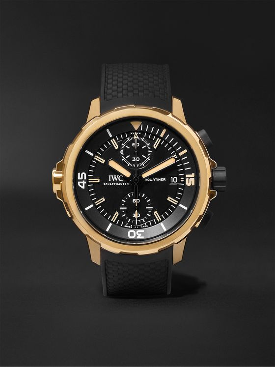 IWC SCHAFFHAUSEN Aquatimer Expedition Charles Darwin Automatic Chronograph 44mm Bronze and Rubber Watch, Ref. No. IW379503
