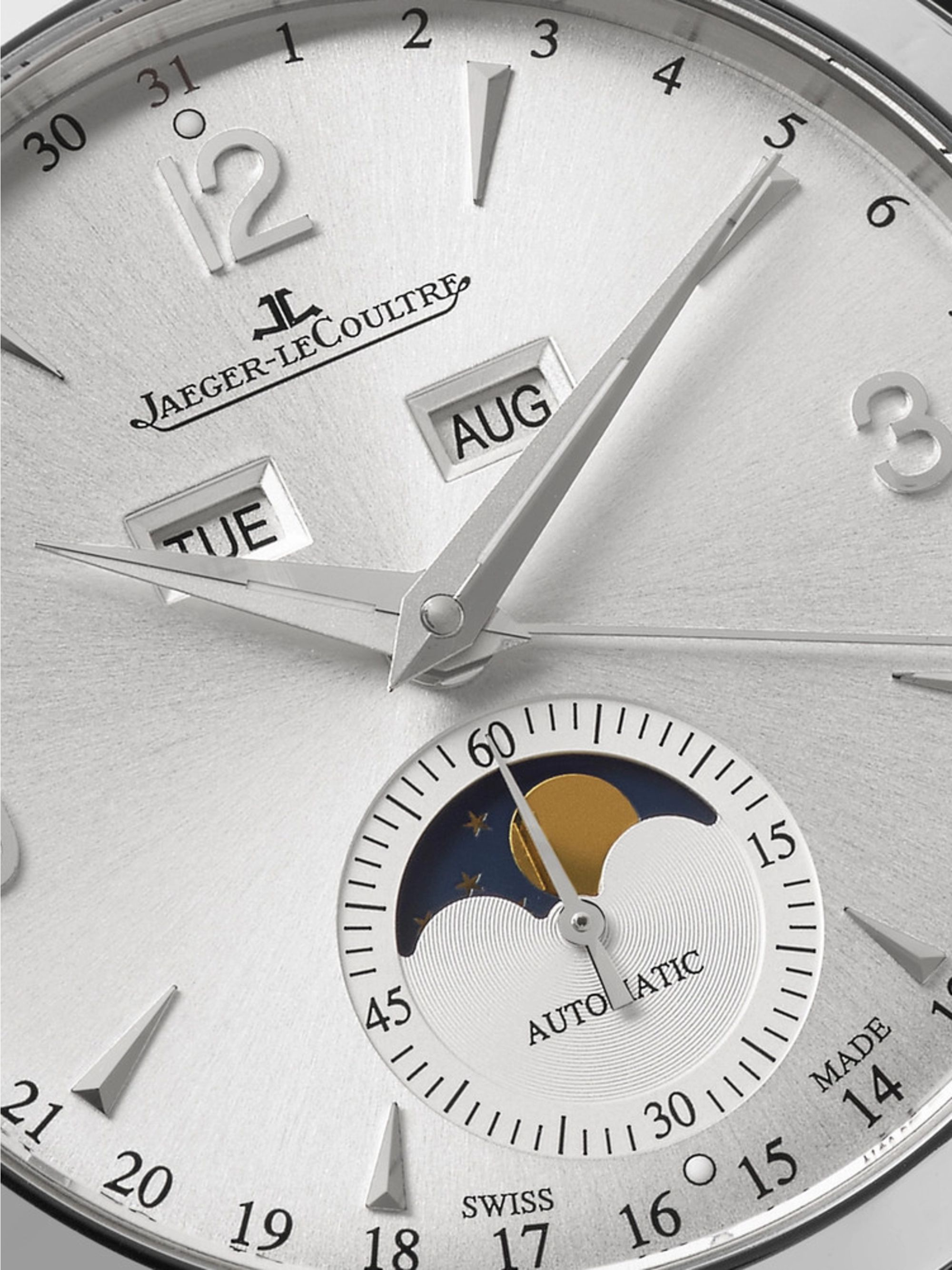 Jaeger-LeCoultre Master Calendar Automatic Stainless Steel and Alligator Watch, Ref. No. Q1558420