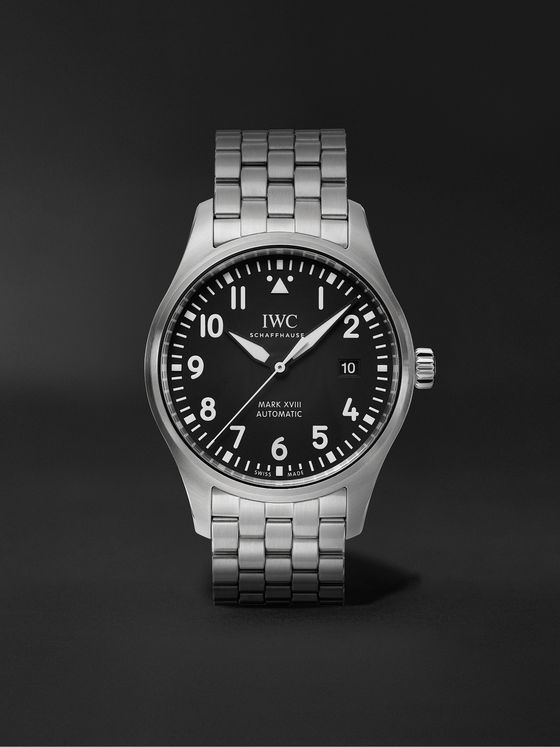 IWC SCHAFFHAUSEN Pilot's Mark XVIII Automatic 40mm Stainless Steel Watch, Ref. No. IW327015