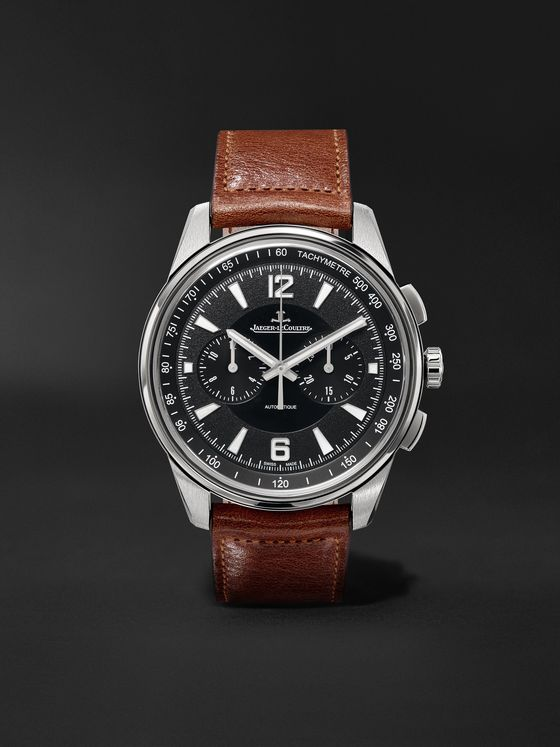 JAEGER-LECOULTRE Polaris Automatic Chronograph 42mm Stainless Steel and Leather Watch, Ref. No. Q9028471