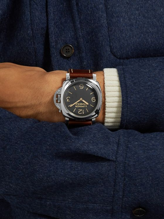 Panerai Luminor 1950 Hand-Wound 47mm Stainless Steel and Leather Watch, Ref. No. PAM00372
