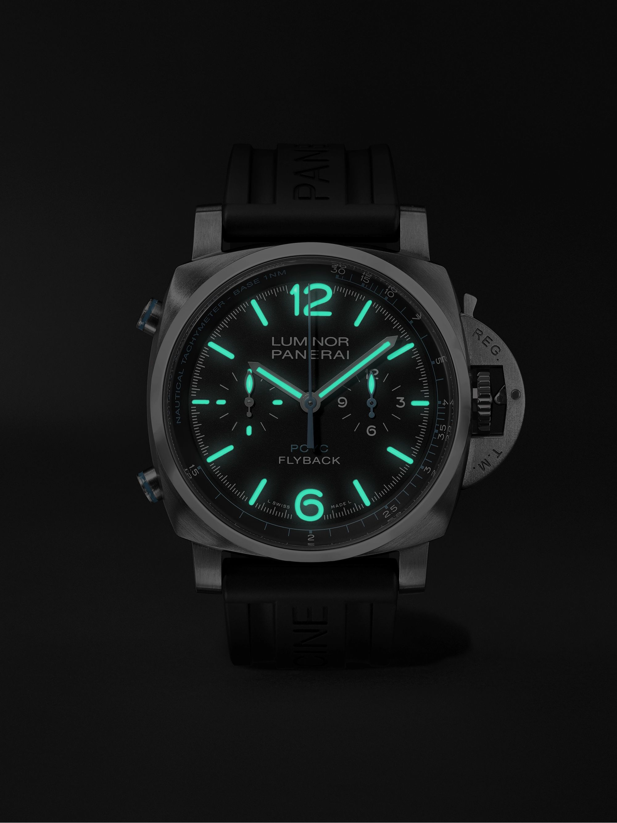 Panerai Luminor Yachts Challenge Automatic Flyback Chronograph 44mm Titanium and Rubber Watch, Ref. No. PAM00764