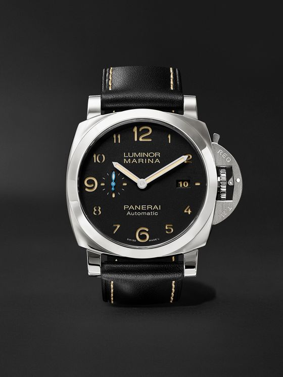 Panerai Luminor Marina 1950 3 Days Acciaio 44mm Stainless Steel and Leather Watch, Ref. No. PAM01359