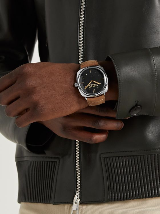 PANERAI Radiomir S.L.C. 3 Days Acciaio Hand-Wound 47mm Steel and Leather Watch, Ref. No. PAM00425