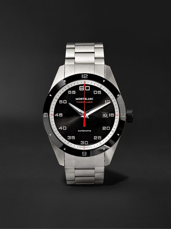 Montblanc TimeWalker Date Automatic 41mm Stainless Steel and Ceramic Watch, Ref. No. 116060