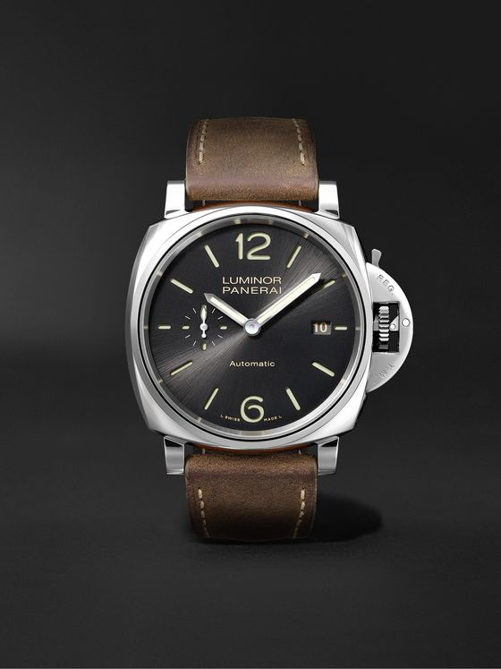 PANERAI Luminor Due Automatic 42mm Stainless Steel and Leather Watch, Ref. No. PAM00904