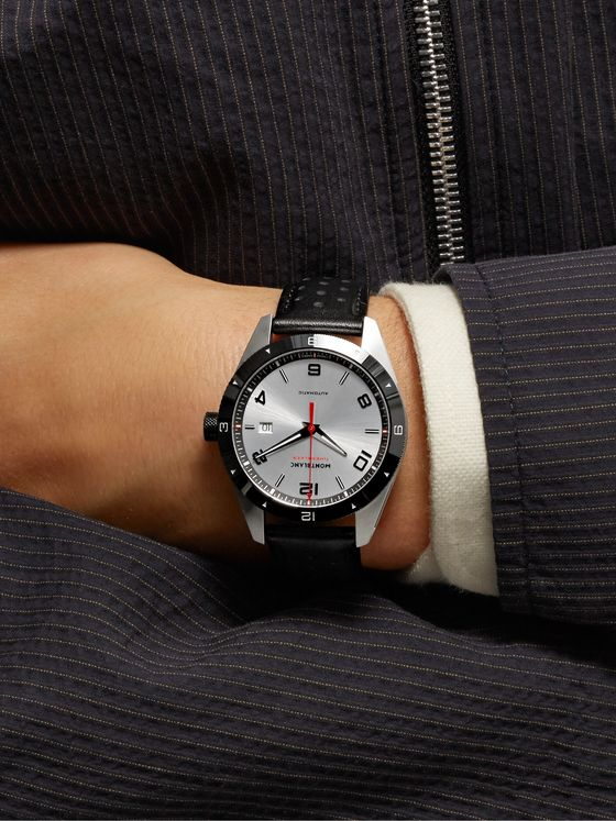 Montblanc TimeWalker Date Automatic 41mm Stainless Steel, Ceramic and Leather Watch, Ref. No. 116058