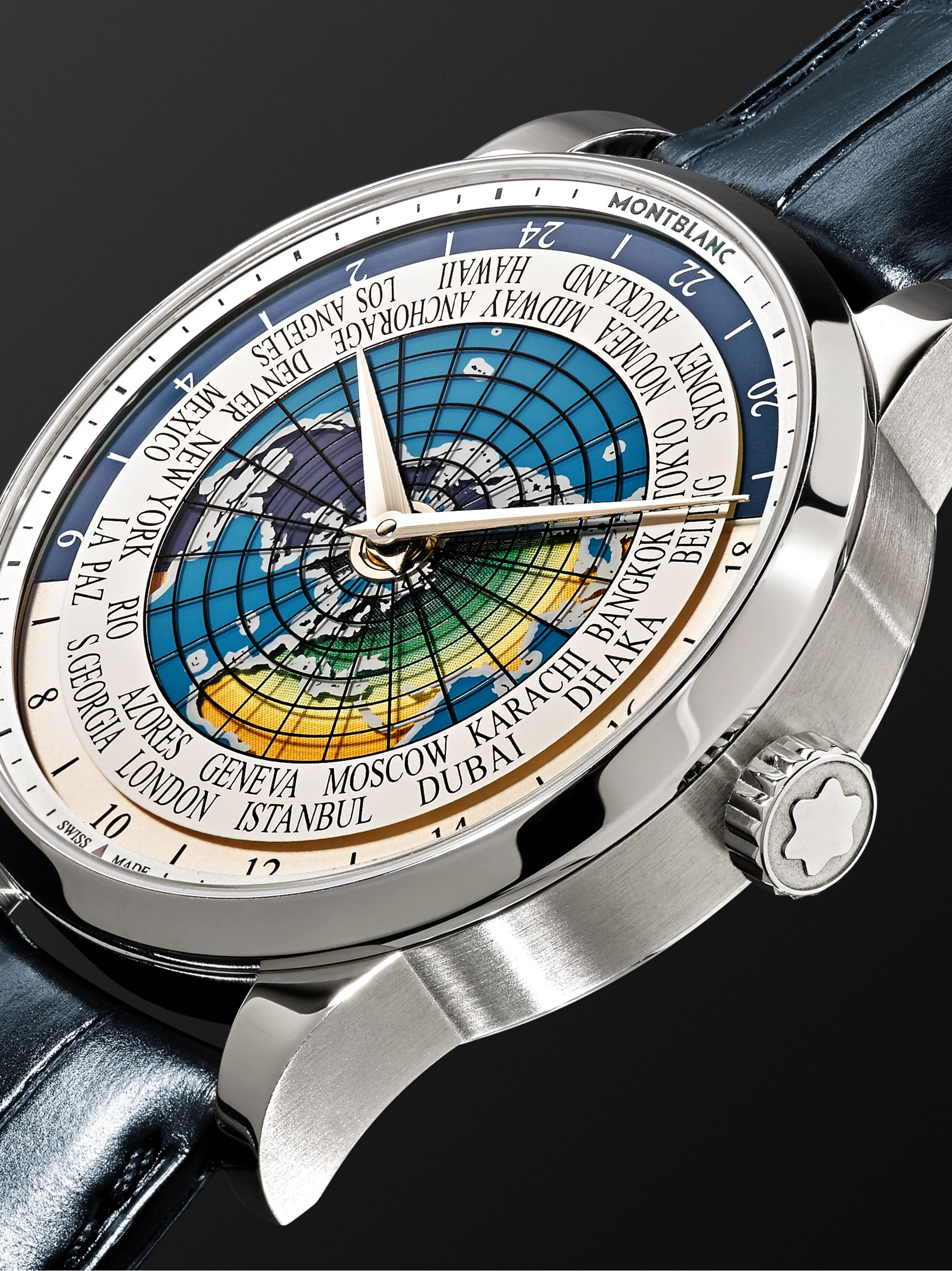 Montblanc Heritage Spirit Orbis Terrarum LATIN UNICEF 41mm Stainless Steel and Alligator Watch, Ref. No. 116533