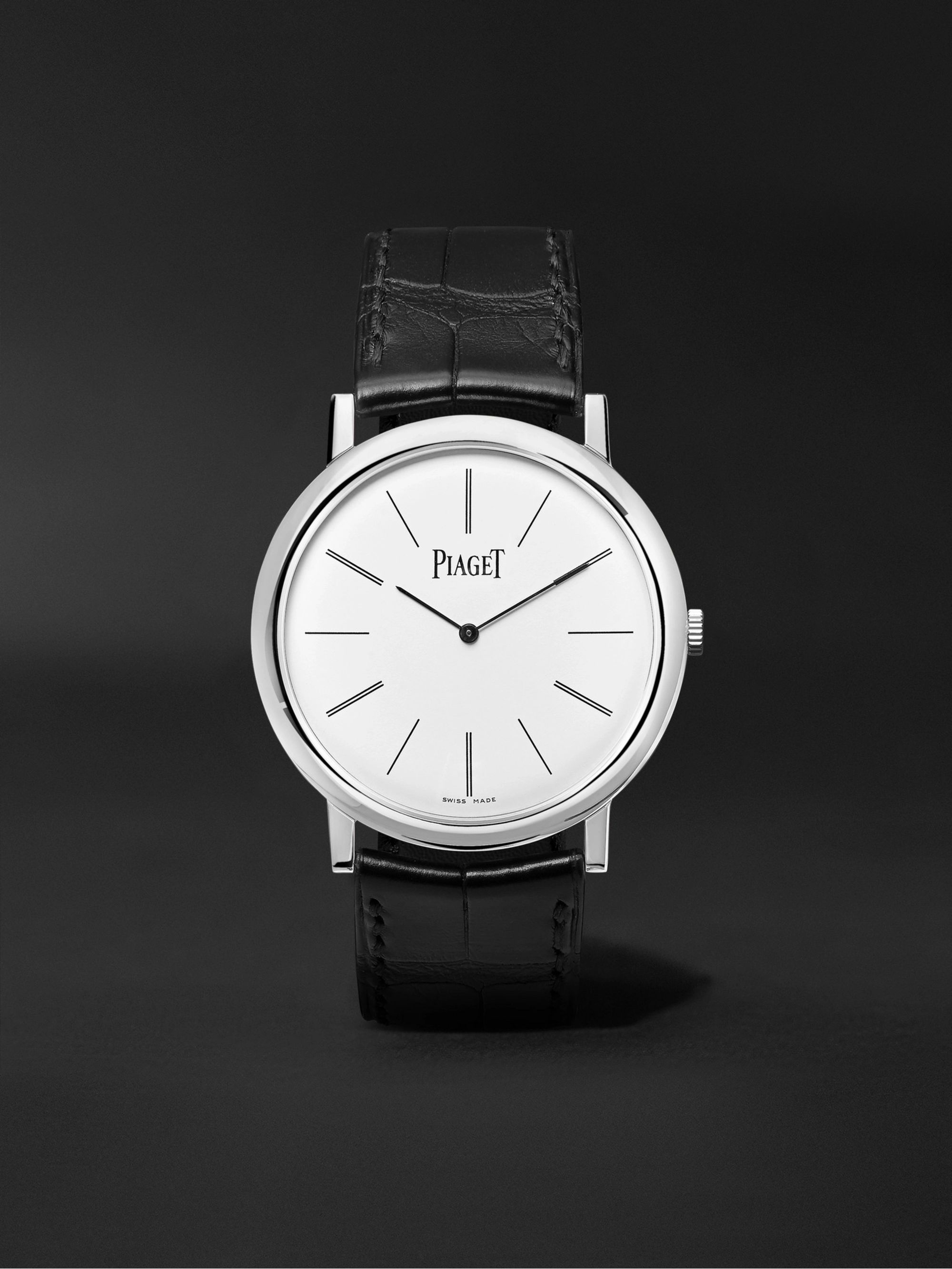 Piaget Altiplano Hand-Wound 38mm 18-Karat White Gold and Alligator Watch, Ref. No. G0A29112