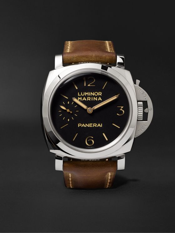 PANERAI Luminor Marina 1950 3 Days Acciaio 47mm Stainless Steel and Leather Watch, Ref. No. PAM00422