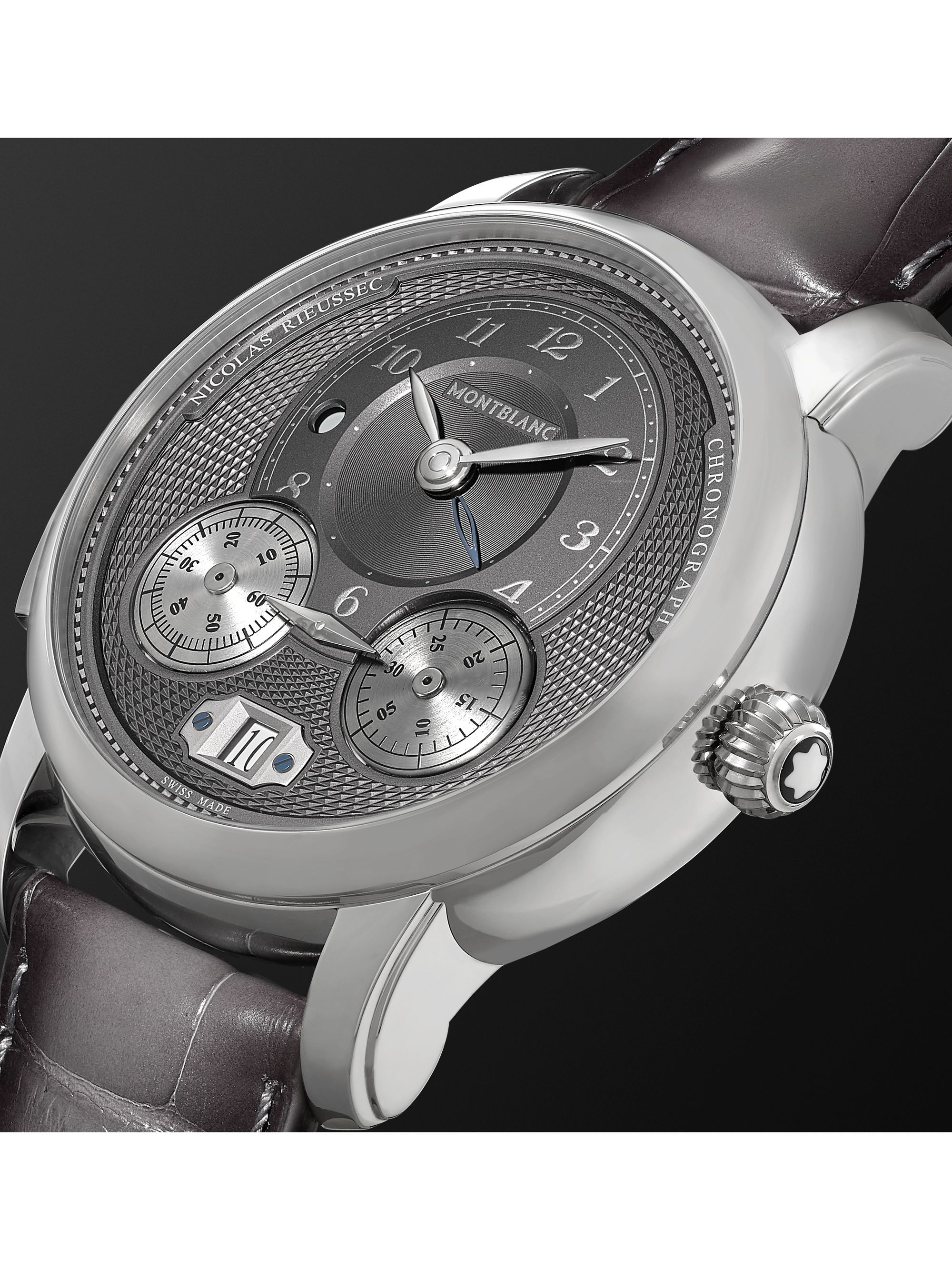 Montblanc Star Legacy Nicolas Rieussec Automatic Chronograph 44mm Stainless Steel and Alligator Watch, Ref. No. 119954