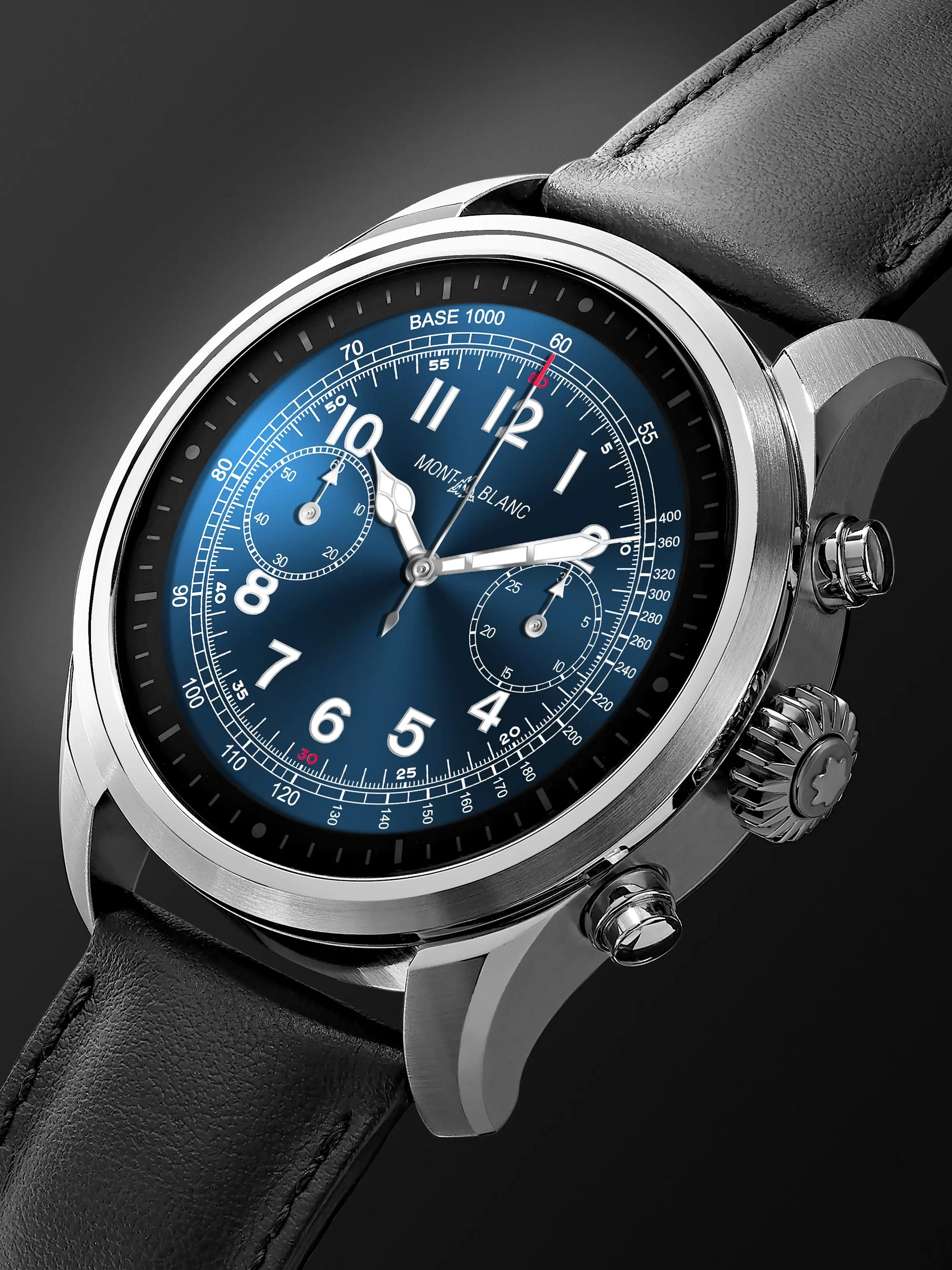 Montblanc Summit 2 42mm Stainless Steel and Leather Smart Watch, Ref. No. 119440