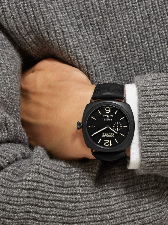 Panerai Radiomir 8 Days Ceramica 45mm Ceramic and Suede Watch, Ref. No. PAM00384