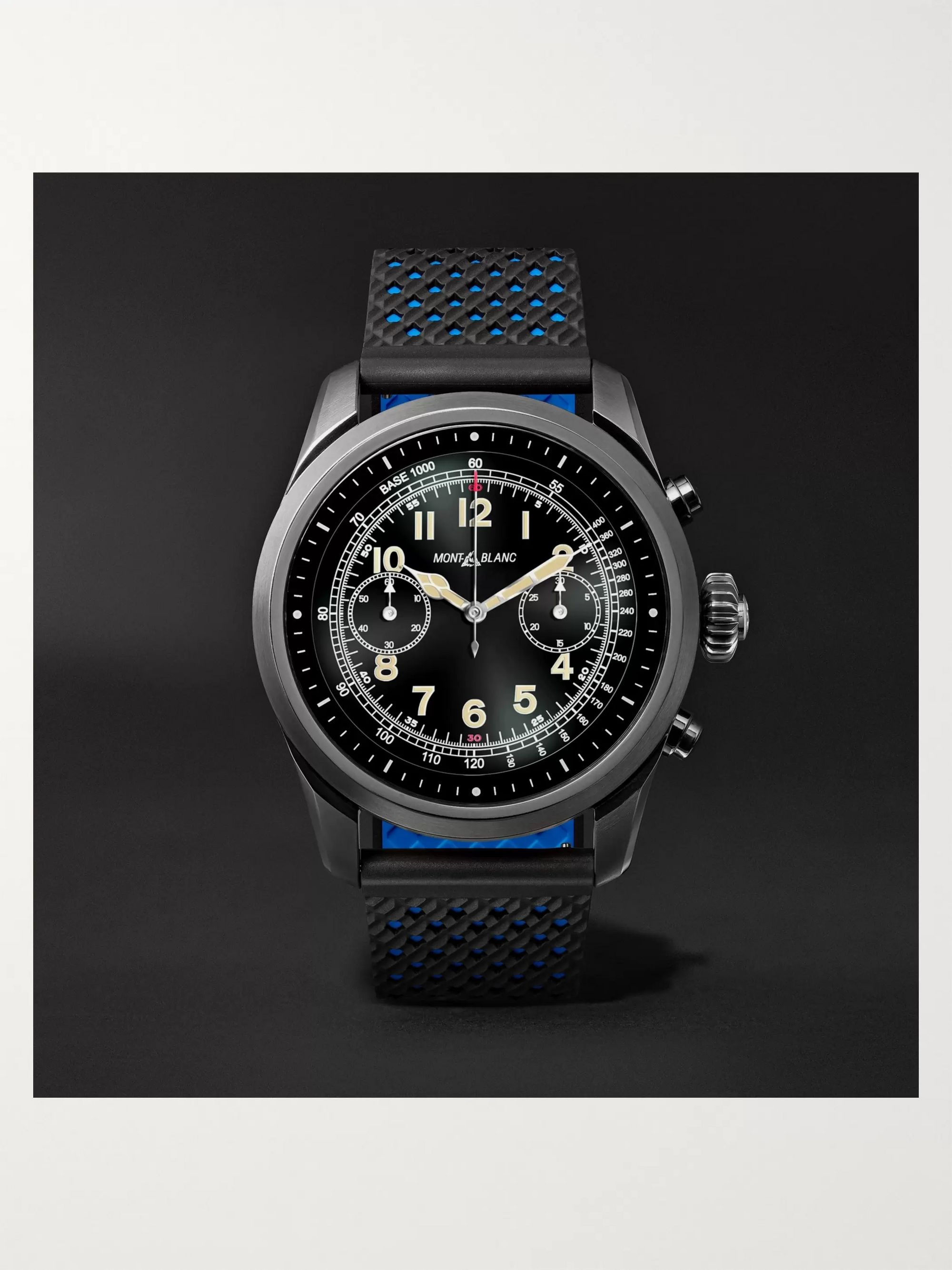 Montblanc Summit 42mm Titanium and Rubber Smart Watch, Ref. No. 119563