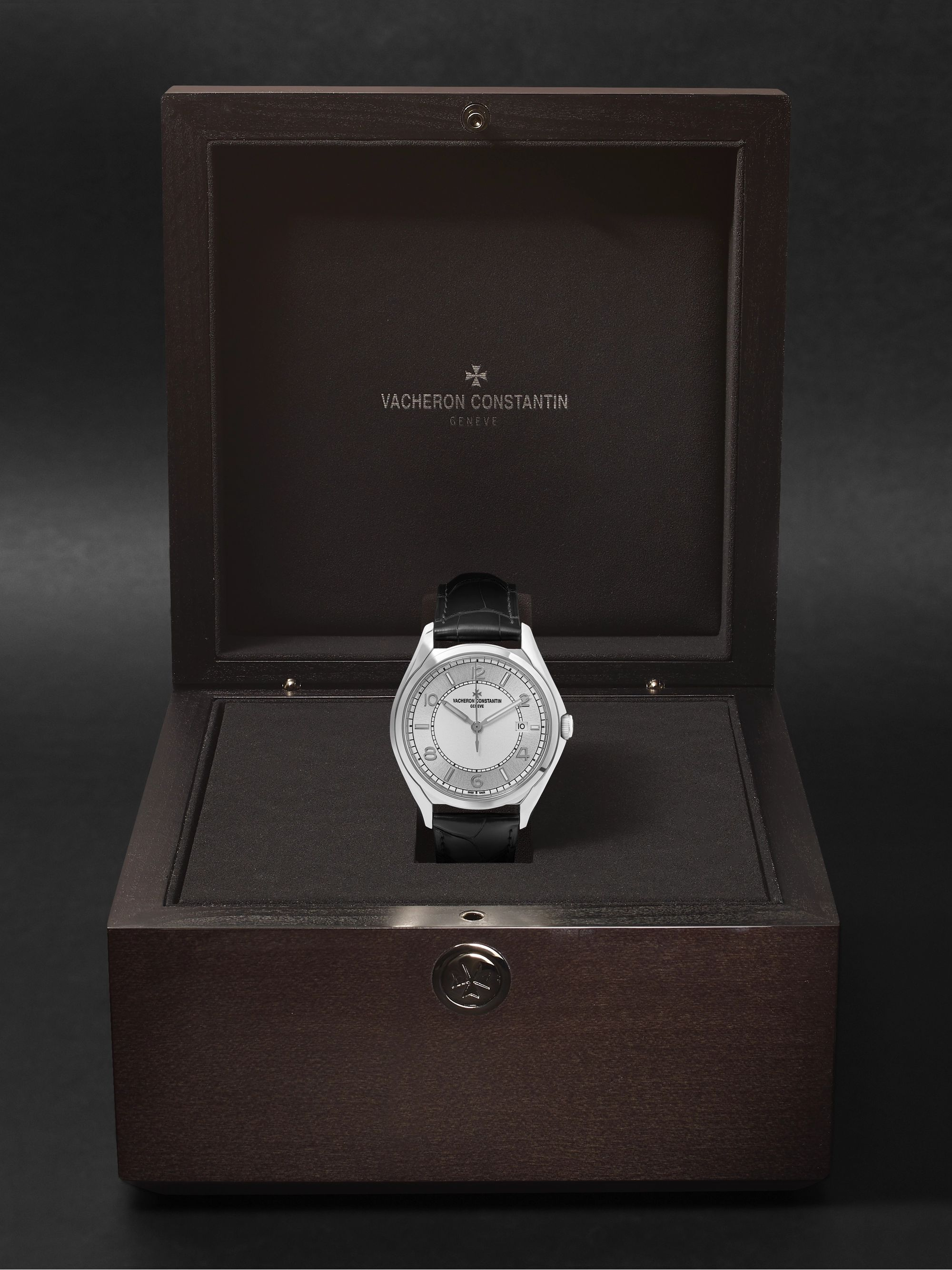 VACHERON CONSTANTIN Fiftysix Automatic 40mm Stainless Steel and Alligator Watch, Ref. No. 4600E/000A-B442