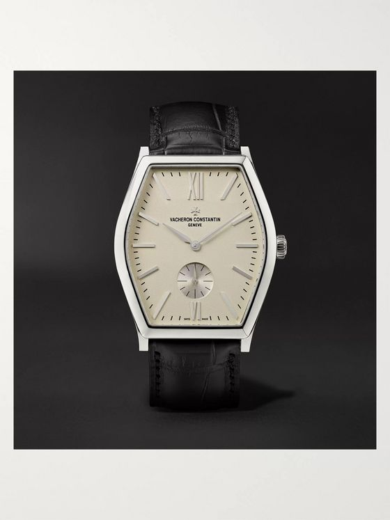 Vacheron Constantin Malte Hand-Wound 36.7mm 18-Karat White Gold and Alligator Watch, Ref. No. 82230/000G-9962