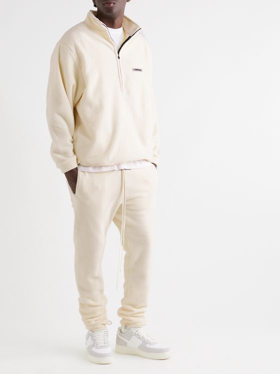Fear of God Essentials Slim-Fit Logo-Appliquéd Fleece Drawstring Sweatpants