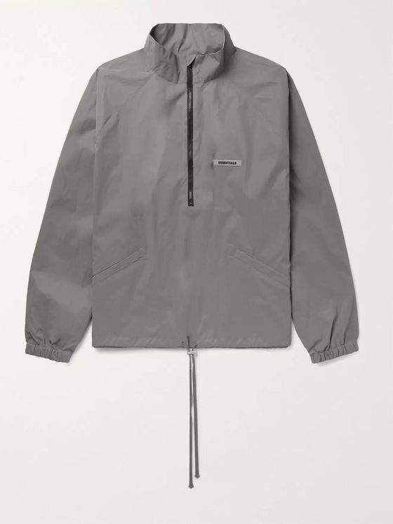 Fear of God Essentials Reflective Shell Half-Zip Track Jacket