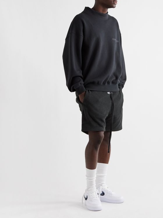Fear of God Essentials Logo-Appliquéd Fleece Drawstring Shorts