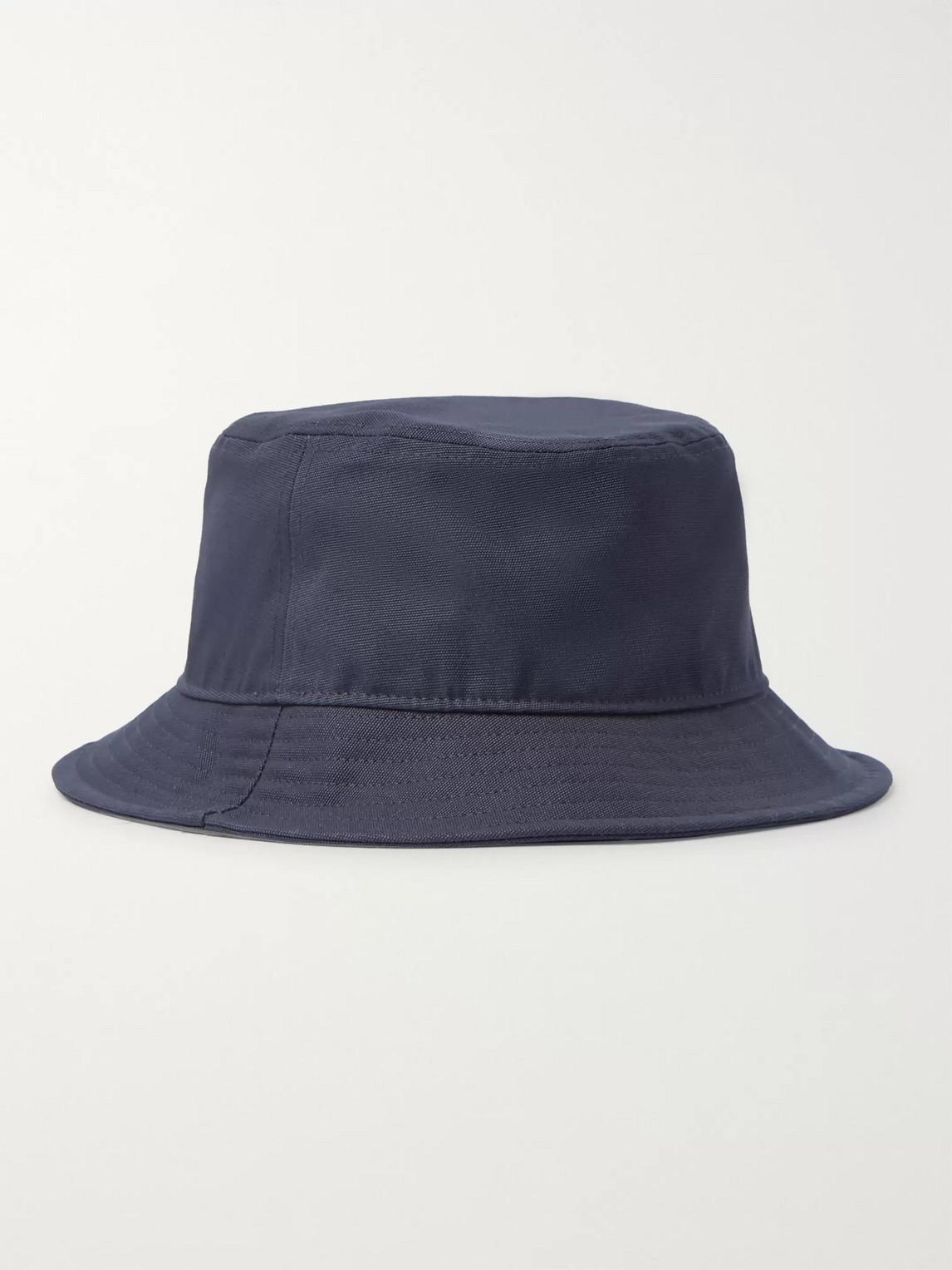 acne studios - cotton-canvas bucket hat - men - blue
